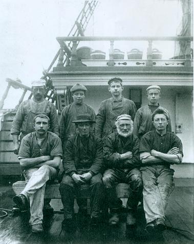 Eine Schietgäng auf dem Segelschiff